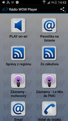 Rádio WOW player