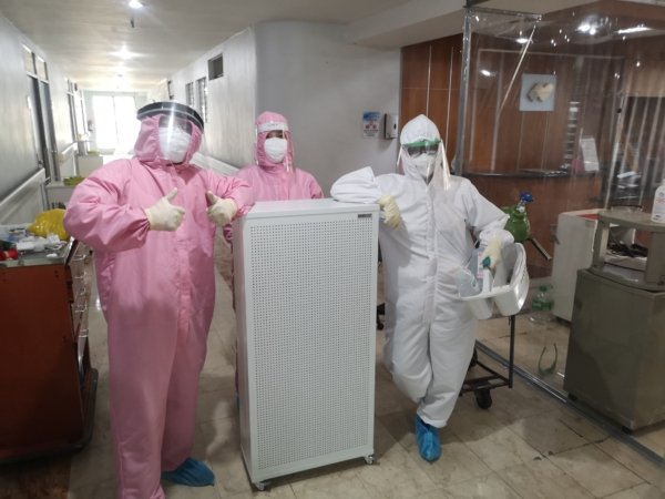 Air purifier in medical Hospital for COVID-19 protection
