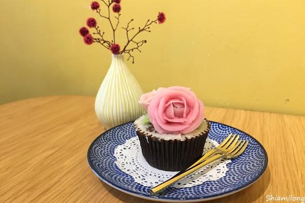 小草堂 - 凡爾賽玫瑰豆乳霜杯子蛋糕,好看、好拍、甜滋滋