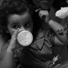 White milk, white flower by Luiz Michelini - People Family