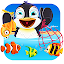 Fish Games For Kids – Trawling Penguin Games icon