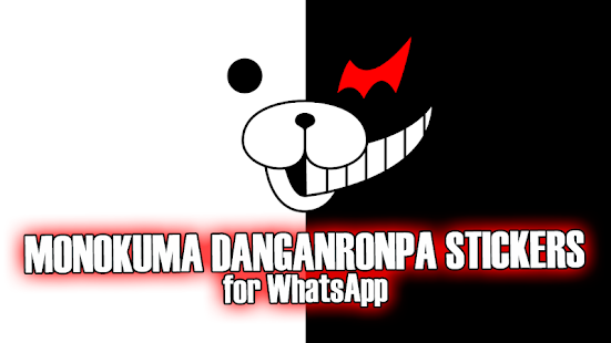 Monokuma Danganronpa Stickers for WhatsApp