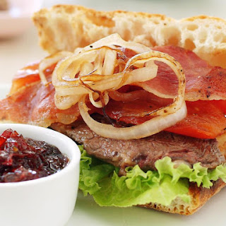 Steak Sandwiches with Pepper Relish.