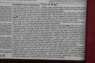 Photo: Prečo tam ten pamätník stojí si môžeme prečítať aj po slovensky