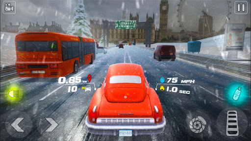 VR Car Race -Real Classic Auto Traffic Race apkpoly screenshots 1