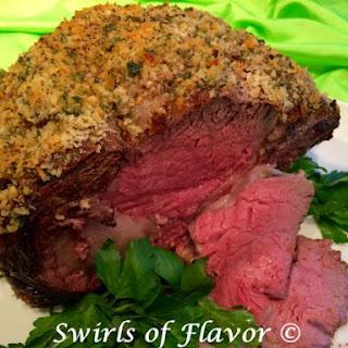 Panko Crusted Beef Rib Roast