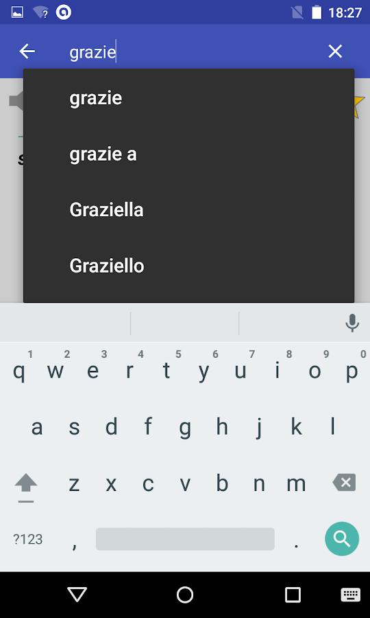 Italian Dictionary- screenshot