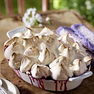 Baked Rasperry Dessert with Meringue Topping