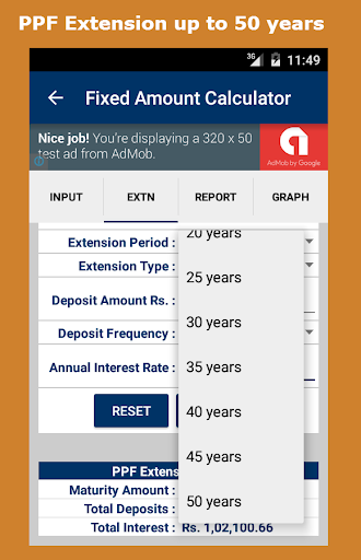 Ppf calculator for 35 years.