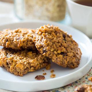 Apple Raisin Oatmeal Breakfast Cookies