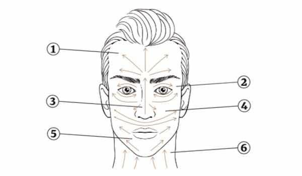 Aplicar hidratante no rosto do homem