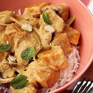 Tofu and Squash Curry.