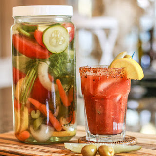 The Best Bloody Mary Vodka Infusion.
