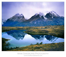 Photo: #MountainMonday  Paine Massif Reflection  Having just been singing the praises of RAW capture I thought I'd share an old large format film shot for Mountain Monday! This was taken in Torres del Paine National Park in Chile back in 2004.  Scanning it was rather tricky: in fact I didn't use it for years but after re-scanning it a while ago and recently spending a bit more time messing around with a variety of layers in Photoshop I managed to extract a bit more detail from it and come up with something a bit more pleasing...  Deardorff 45 Special, Quickload Back, Fuji Velvia 50 Pentax Digital Spotmeter Schneider Super Angulon 90mm, 1s at f45