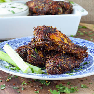 Spice Rack Dry Rubbed Baked Chicken Wings.