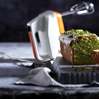 Avocado Bread with Lime Icing and Pistachios