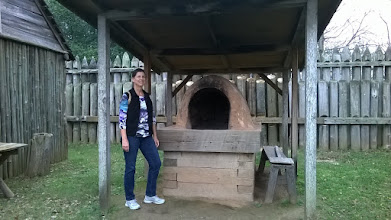 Photo: Me in front of outdoor oven Fort St. Jean Baptiste Natchitoches