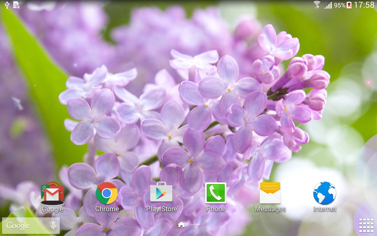 Lilac live wallpaper- screenshot