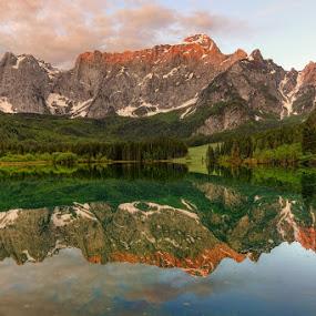 Mangartsko jezero by Blaz Crepinsek - Landscapes Mountains & Hills (  )