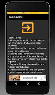 Earning Zone - Earn Free Paytm Cash - náhled