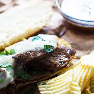 Slow Cooker French Dip Sandwiches.