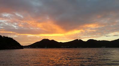 Photo: Dawn arrival at Providencia