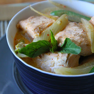 Salmon-Fennel Red Curry.