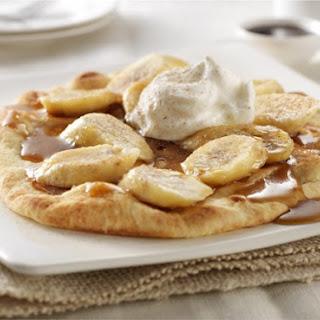 Bananas Foster with Cinnamon Sugar Naan