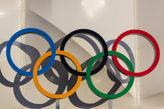 Photo: Olympic rings @ Basketball Arena