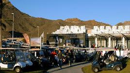 Instalaciones  de Aguilón Golf, en el Pilar de Jaravía de Pulpí, en una imagen anterior al Estado de Alarma.
