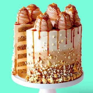 Caramel Popcorn Cake.