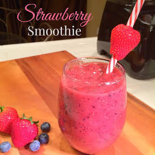 Strawberry Blueberry Smoothie.