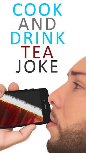 쿡과 음료 차 농담