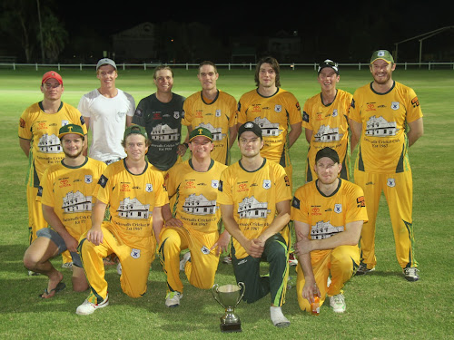 Tatts Cricket Club first grade side, back, Michael Cain, Toby Bentley, Ryan O'Neill, Mick Sargent, Chris Higgins, Brock Schwager, Tom Craig, front, Jacob Nichols, Jordyn Mowle, Brendon Ward, Jake Packer (c) and Jake Rumsby.