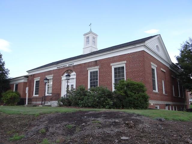 Old Brevard, NC post office; Brevard Library