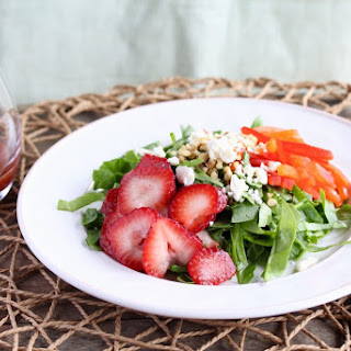 Spinach Salad with Macerated Strawberry Dressing