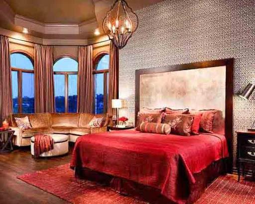 ロマンチックなベッドルームの設計