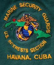 Photo: marines, u.s. interests section. Tracey Eaton photo