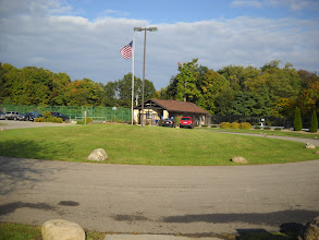 Photo: Candlewood's Pool and Tennis Court area.