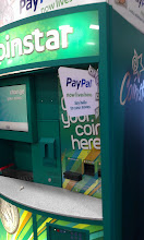 Photo: Here's the famous Coinstar machine!! Hubby and I actually noticed that just recently PayPal was added to the kiosk and a new sign showed up on the side. We were intrigued because we're fairly new to PayPal with my blogging and have wondered how we would access the funds if we weren't buying online. In addition to getting a PayPal debit card, this is a great way to add/withdraw funds!!