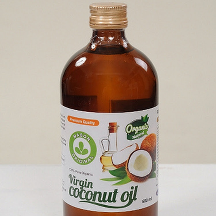 Mason Original Virgin Coconut Oil ( 500ml narrow neck glass jar ) by Atlantis Arena Sdn Bhd