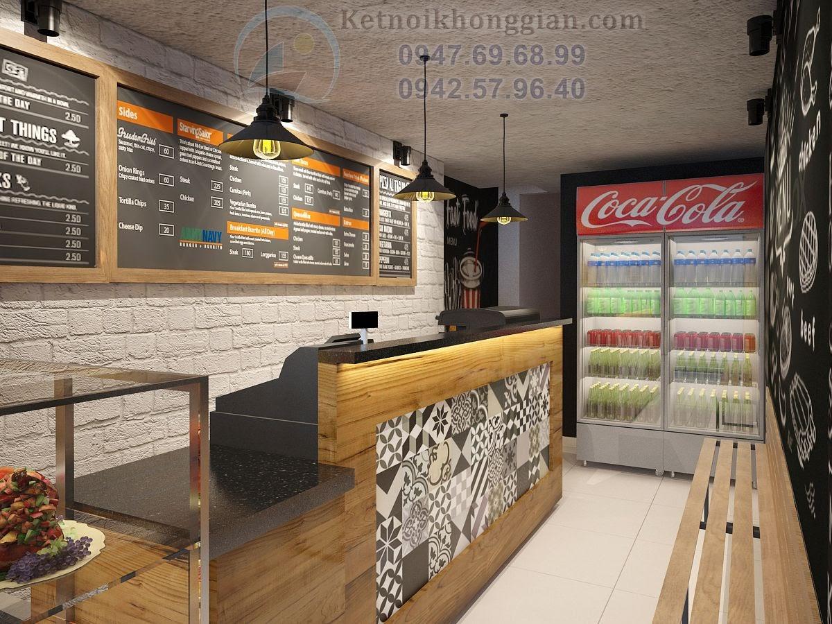 thiết kế quán ăn nhanh diện tích nhỏ