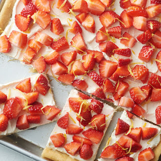 Strawberry-Lemonade Sugar Cookie Sheet-Pan Bars.
