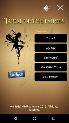 Tarot of the fairies lite - screenshot