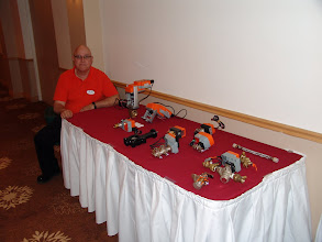 Photo: Clark Campbell of Belimo with his table top display