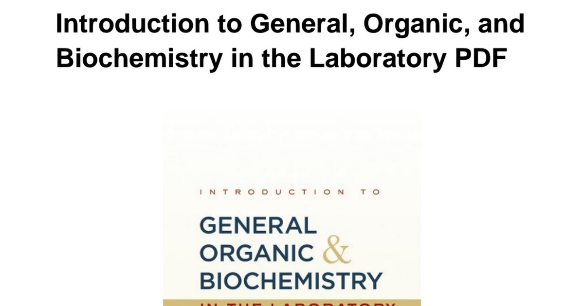0470598816 introduction general organic biochemistry laboratorypdf 0470598816 introduction general organic biochemistry laboratorypdf google drive fandeluxe Images