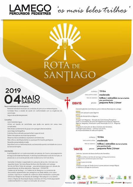 Programa – Rota de Santiago – Lamego – 4 de Maio de 2019