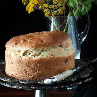 Irish Barm Brack Bread with Dried Apricots Perfect for St.Patrick's Day