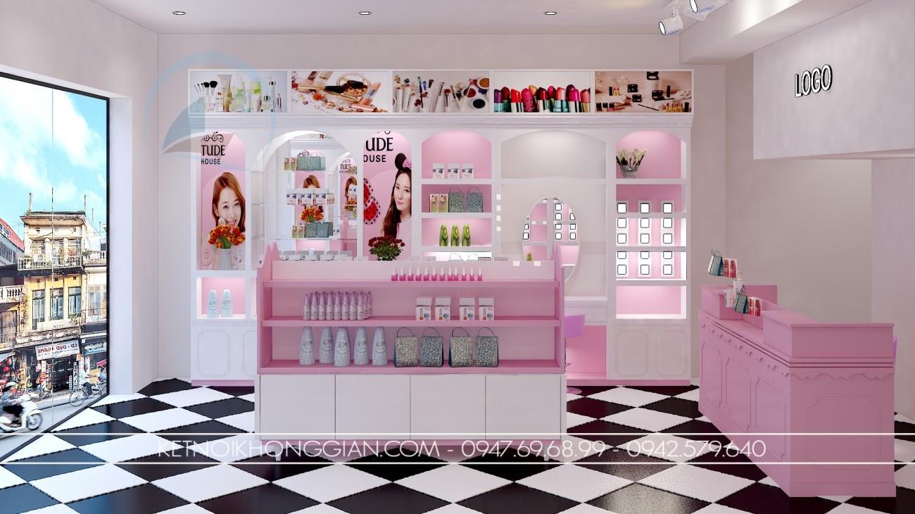 thiết kế shop mỹ phẩm cao cấp 2