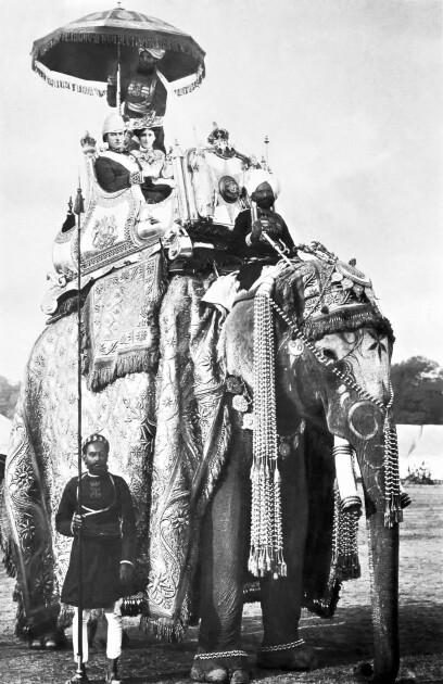 Настоящие интересы лорда были далеки от Украины и Польши. Джордж Керзон с женой в период выполнения им обязанностей вице-короля Британской Индии